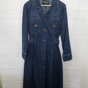 Vintage Rampage Jean Co. Denim Jean Shirt …